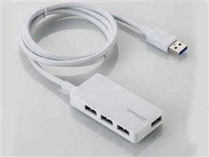 エレコム USBHUB3.0/A408Sシリーズ/ACアダプタ付/セルフパワー/4ポート/ホワ・・・
