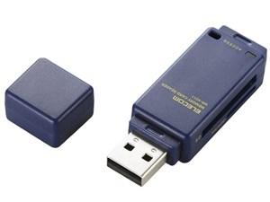 エレコム メモリリーダライタ/直挿しタイプ/SD系専用/ブルー MR-K011B・・・