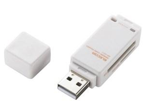 エレコム メモリリーダライタ/直挿しタイプ/SD系専用/ホワイト MR-K011W・・・