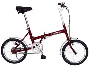 Classic Mimugo FDB16 / 16インチ折畳自転車 クラシックレッド MG-CM1・・・