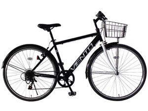 TOP ONE T-MCA266-43-BK ブラック VIENTO [クロスバイク(26インチ・6段変速)] 商品画像1:PREMOA