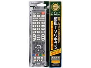 オーム電機 LEDライト付き 簡単TVリモコン 東芝専用 AV-R330N-・・・