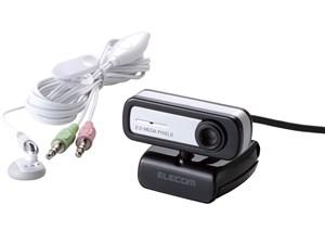 エレコム PCカメラ/200万画素/マイク内蔵/ブラック UCAM-C0220FENB・・・