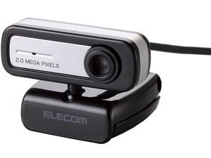 エレコム PCカメラ/200万画素/マイク内蔵/イヤホン無/ブラック UCAM-C0220FBN・・・