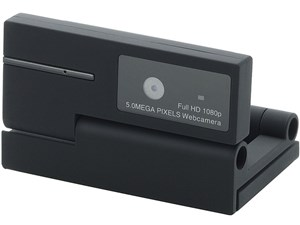 ELECOM UCAM-DLI500TNBK ブラック [WEBカメラ 500万画素 マイク内蔵 動画対応・・・