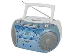 WINTECH/廣華物産 CDR-L72A ブルー [CDラジカセ (外部音声入力端子)・・・