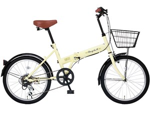 Raychell FB-206R-アイボリー(24213) [折りたたみ自転車(20インチ・6段変速)・・・