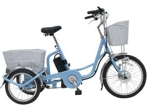 アシらくチャーリー 電動アシスト 三輪自転車 スカイブルー MG-TRM20E・・・
