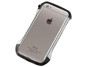 Deff CLEAVE Hybrid Bumper for iPhone6/6S Carbon&Silver DCB-IP6SA6CASV