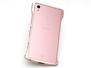 Deff Cleave Aluminum Bumper Chrono for Xperia Z5 Pink DCB-XZ5A6PN
