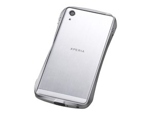 Deff CLEAVE LIMITED Aluminum Bumper for Xperia X Performance Silver/Silv・・・