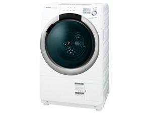 SHARP ES-S7A-WR ホワイト系 [ななめ型ドラム式洗濯乾燥機 (7.0kg) 右開き・・・