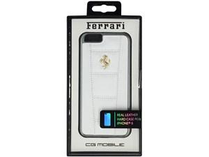 Ferrari フェラーリ 【iPhone 6】458 - White Leather Hard Case ホワイト FE・・・