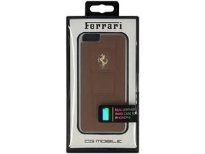Ferrari フェラーリ 【iPhone 6 Plus】458 -Camel Leather Hard Case ブラウ・・・