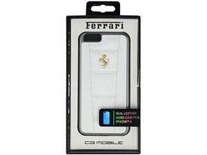 Ferrari フェラーリ 【iPhone 6 Plus】458 - White Leather Hard Case ホワイ・・・