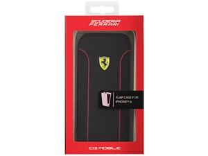 Ferrari フェラーリ 【iPhone 6】FIORANO - Black PU Leather Flap Case ブラ・・・