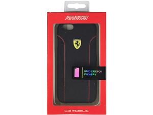 Ferrari フェラーリ 【iPhone 6】FIORANO - Black PU Leather Hard Case FEDA・・・