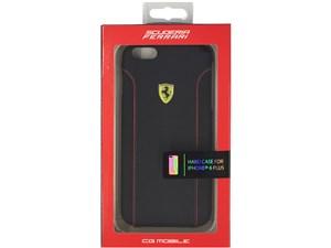 Ferrari フェラーリ 【iPhone 6 Plus】FIORANO - Black PU Leather Hard Case・・・