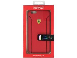 Ferrari フェラーリ 【iPhone 6 Plus】FIORANO - Red PU Leather Hard Case F・・・