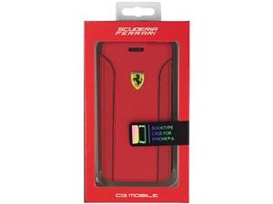 Ferrari フェラーリ 【iPhone 6】FIORANO - Red PU Leather Booktype Case FE・・・