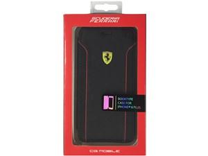 Ferrari フェラーリ 【iPhone 6 Plus】FIORANO - Black PU Leather Booktype ・・・