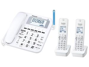 パナソニック コードレス電話機(子機2台付き) RU・RU・RU(ル・ル・ル)(ホワイ・・・