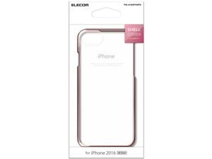 ELECOM PM-A16MPVMPN ピンク [シェルカバー サイドメッキ (iPhone 7用)・・・
