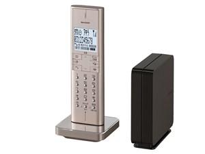 シャープ 電話線接続ボックス(親機)を採用したコードレス電話機 JD-XF1CL-N [ゴールド系] 商品画像1:激安家電パレット