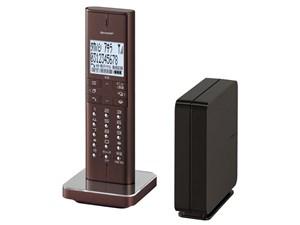 シャープ 電話線接続ボックス(親機)を採用したコードレス電話機 JD-XF1CL-T [ブラウン系] 商品画像1:激安家電パレット