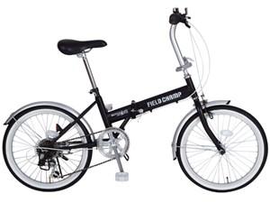 FIELD CHAMP FDB20 6S / 20インチ折畳自転車6段ギア ブラック MG-FCP20・・・