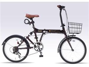 池商 20インチ折畳自転車6SP・リアサス SC-07-PLUS-EB エボニーブラウ・・・