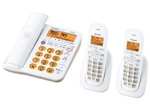 [シャープ] デジタルコードレス電話機(子機2台付き) [JD-G56CW-W(ホワイト)・・・