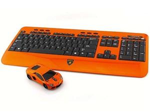 LANDMICE Lamborghini LP700 2.4G無線マウス+キーボード オレンジ LB-LP700KM・・・
