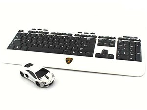 LANDMICE Lamborghini LP700 2.4G無線マウス+キーボード ホワイト LB-LP700KM・・・