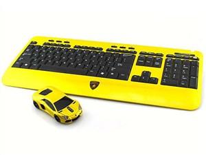 LANDMICE Lamborghini LP700 2.4G無線マウス+キーボード イエロー LB-LP700KM・・・