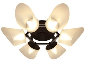 スワン電器 CE-102 Slimac [LEDシャンデリアライト (~8畳・6灯・電球色・42W・・・