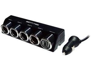 カシムラ 4連セパレートソケット USB2ポート 4.8A(ブラック) KX-187 ブラッ・・・