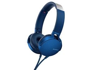 SONY ベース・ブースター搭載の有線ヘッドホン MDR-XB550AP (L) [ブルー・・・