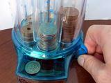 硬貨の自動選別機能つき。小さいのに高性能のパーソナルバンク!