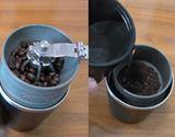 この発想はなかった。コーヒーを豆から挽けるタンブラー