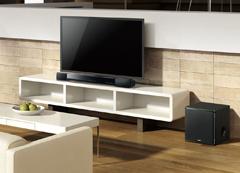 2ユニットをスタイリッシュに設置でき、映画や音楽、テレビ番組の音質や迫力をアップ