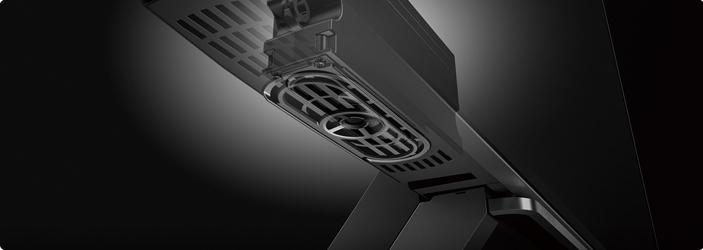 スピーカーとエンジンによる迫力の低音再現