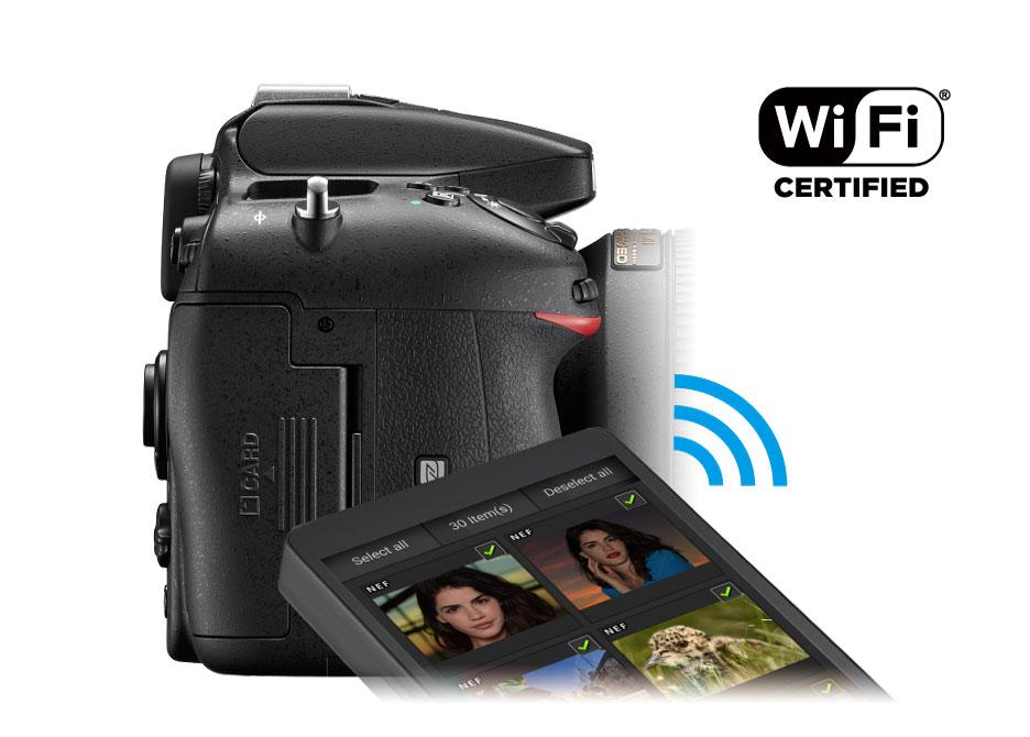 高画質な写真を即座にシェア。内蔵Wi-Fi®機能(NFC対応)