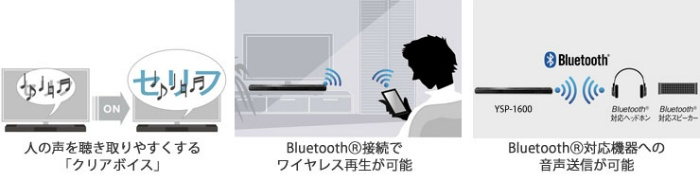「クリアボイス」やBluetooth®対応など、より快適な機能と手軽な接続性を実現