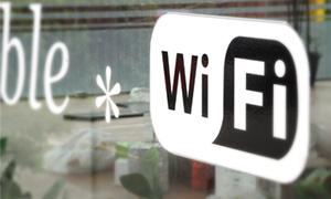 無料WiFiのマーク