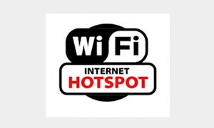 無料Wi-Fiが提供されている場合のマーク