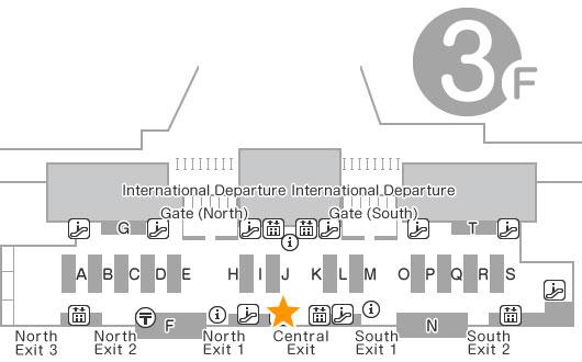 Departure Lobby 3F Telecom Square Counter