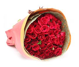 バラ50本の花束