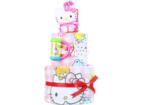 ハローキティのおむつケーキ