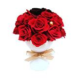プリザーブドフラワー 赤バラの画像